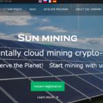 太陽電池でコイン採掘するSun Miningは通常のクラウドマイニングより利益率高め?!
